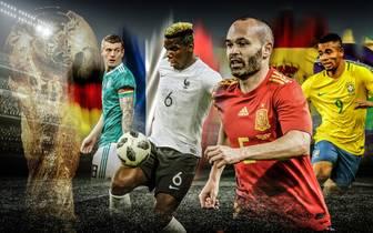 Powerranking WM mit Deutschland, Frankreich, Brasilien, Spanien