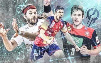 Mikkel Hansen, Alex Dujshebaev und Uwe Gensheimer zählen zu den bekannsten Akteuren der Handball-WM