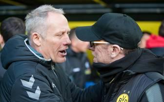 Christian Streich (l.) und Peter Stöger in Dortmund