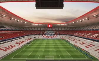 So soll die Allianz Arena des FC Bayern München nach dem Umbau ab Sommer 2018 aussehen