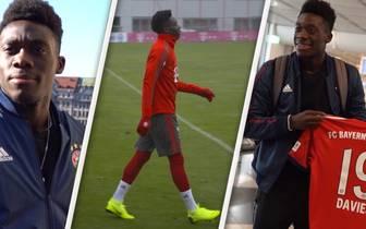 Alphonso Davies: So lief sein erster Tag beim FC Bayern