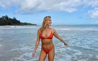 Jackie Brady befindet sich auf Kauai