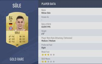Platz 08: Niklas Süle - Verein: FC Bayern München