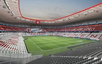 Die Allianz Arena präsentiert sich ab der neuen Saison in neuem Gewand