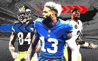 Antonio Brown, Odell Beckham Jr., Le'Veon Bell