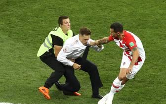 Flitzer von Pussy Riot beim WM-Finale Frankreich gegen Kroatien