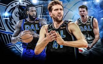 Dirk Nowitzki, DeAndre Jordan und Luka Doncic wollen mit den Dallas Mavericks in die Playoffs