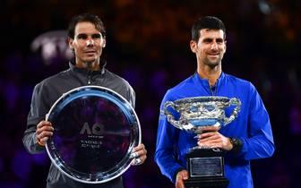Novak Djokovic und Rafael Nadal