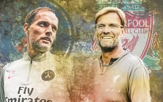 Am fünften Spieltag der Gruppenphase der Champions League kommt es zum zweiten Duell der deutschen Top-Trainer zwischen Thomas Tuchel mit Paris St. Germain und Jürgen Klopp mit dem FC Liverpool