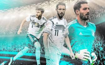 Marc Uth (M.) steht erstmals im Kader der deutschen Nationalmannschaft
