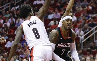 Portland Trail Blazers v Houston Rockets: Carmelo Anthony