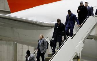 New England Patriots Arrive In Minneapolis For Super Bowl LII