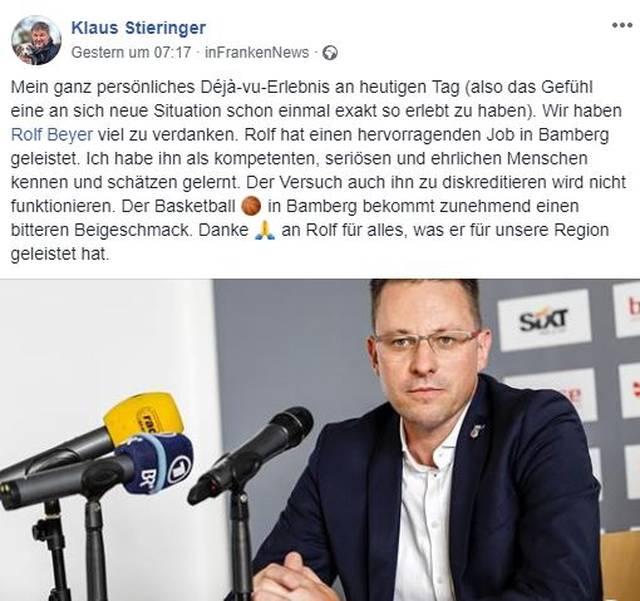 Politiker Klaus Stieringer stärkt Rolf Beyer den Rücken