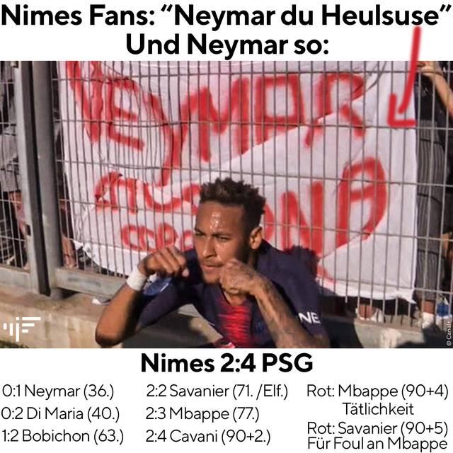 Neymar provozierte die Heimfans