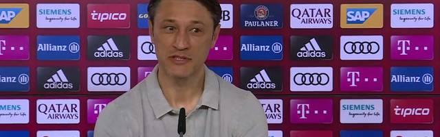 Niko Kovac spricht auf der Bayern-Pressekonferenz