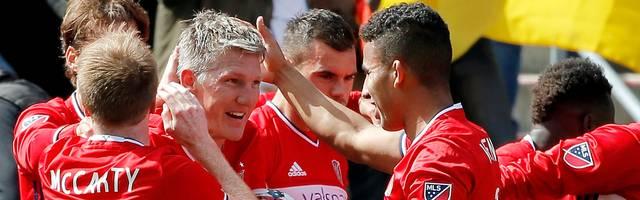 Bastian Schweinsteiger bejubelte mit Chicago Fire den ersten Punkt in der noch jungen Saison