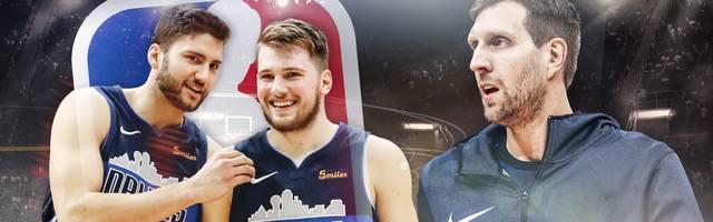 Dirk Nowitzki (r.) hofft auf den Playoff-Einzug der Dallas Mavericks