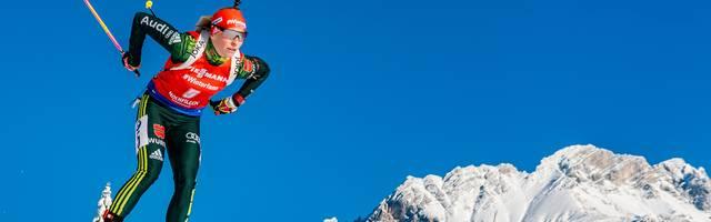 Franziska Hildebrand landete beim Biathlon-Weltcup in Hochfilzen in den Top 10