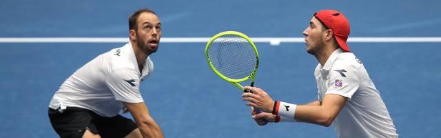 Tim Pütz (l.) Jan-Lennard Struff bilden das deutsche Davis-Cup-Doppel