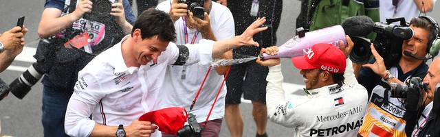 Nach dem Rennen hatten Lewis Hamilton und Toto Wolff Grund zum Feiern