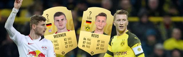Timo Werner (l.) und Marco Reus dürfen sich über eine FIFA-Werteupdate freuen