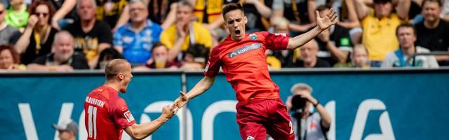 Philipp Klement (re.) erzielte den zwischenzeitlichen Führungstreffer für den SC Paderborn