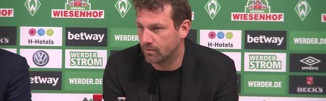 Pressekonferenz mit Markus Weinzierl und Florian Kohfeldt