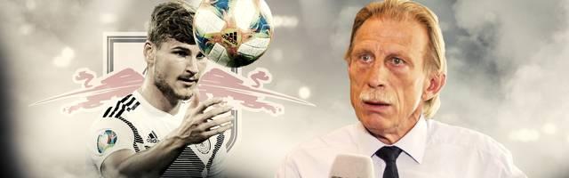 Christoph Daum (r., mit Timo Werner) startete seine Trainerkarriere 1981 als Chefcoach bei den Amateuren des 1. FC Köln