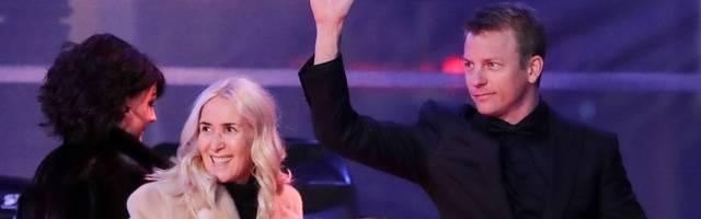 Kimi Raikkönen sorgte auf der Saisonabschluss-Gala für Lacher