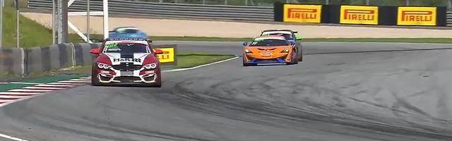 Alain Valente fährt den Sieg beim letzten Rennen der ADAC GT4 Germany in Spielberg nach Hause
