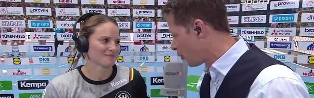 Anna Loerper im Interview nach ihrem Abschied vom DHB-Team