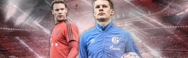Alexander Nübel (r.) könnte wie einst Manuel Neuer von Schalke 04 zum FC Bayern wechseln