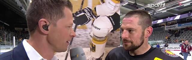 Eishockey-Nationalspieler Yannic Seidenberg im Interview nach dem 5:1-Sieg gegen die USA