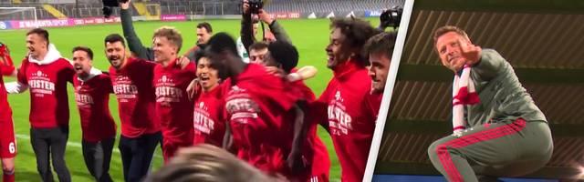 Die Amateure des FC Bayern München krönen sich zum Regionalliga-Meister.