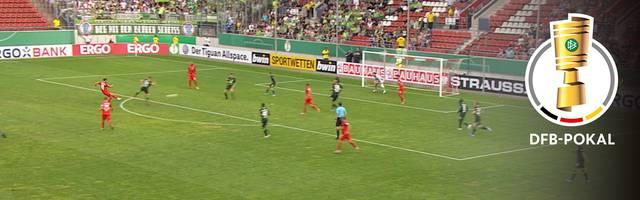 DFB-Pokal: Hallescher FC - VfL Wolfsburg