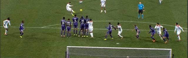 Ligue 1: Nabil Fekir trifft Freistoß für Olympique Lyon