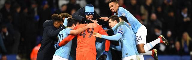 Leicester City v Manchester City: Manchester City darf weiter vom Titel im Caraboa Cup hoffen