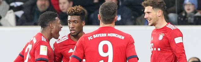 Leon Goretzka (r.) erzielte gegen die TSG Hoffenheim einen Doppelpack für den FC Bayern