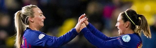FBL-EUR-C1-WOMEN-LILLESTROM-BARCELONA Im Gegensatz zu den Männern wäre es für die Frauenmannschaft des FC Barcelonas der erste CL-Titel