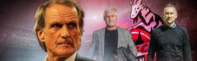 Wolfgang Overath (l., mit Trainer Armin Veh, M., und Neu-Coach Achim Beierlorzer) spielte seine gesamte Karriere über nur den 1.FC Köln