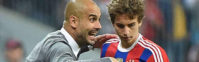 Gianluca Gaudino kam unter Pep Guardiola zu Einsätzen bei den Bayern-Profis