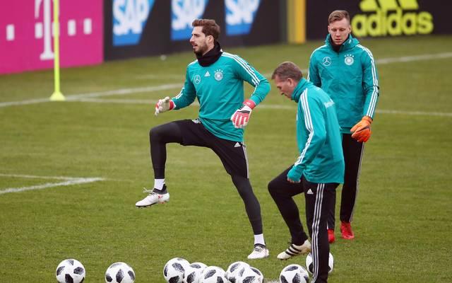 Kevin Trapp beginnt beim Test zwischen Deutschland und Brasilien im Tor des DFB-Teams