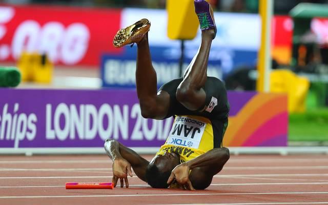 Usain Bolt bei der Leichtathletik WM in London