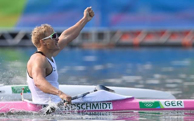 Der Kajak-Vierer um Max Rendschmidt sichert sich das nächste Gold