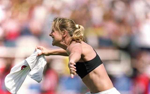 Brandi Chastain jubelte über ihren Treffer im WM-Finale auf kontroverse Weise