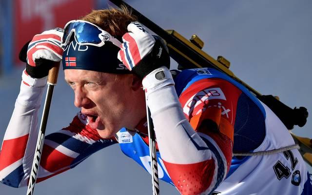 Der Norweger Thingnes Johannes Bö gewinnt die Verfolgung in Antholz