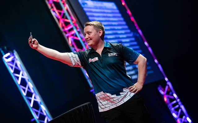 Martin Schindler zog bei der International Darts Open in die 2. Runde ein