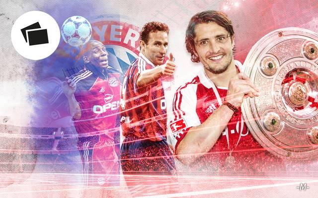Jean-Pierre Papin (M.) und seine Nachfolger: Die Franzosen beim FC Bayern