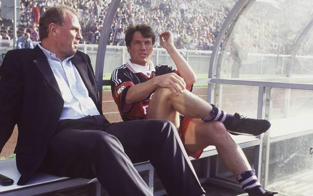 Auch FC-Bayern-Legenden wie Lothar Matthäus (r.) zogen sich schon den Zorn von Uli Hoeneß zu