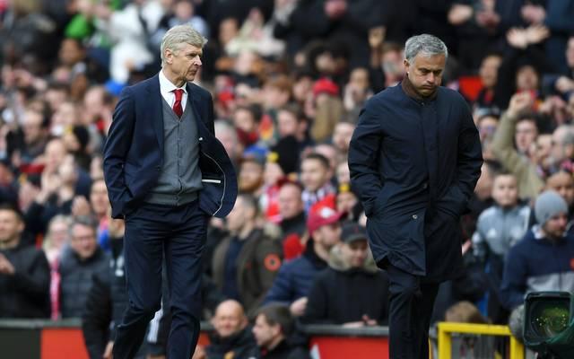Jose Mourinho zollt Arsene Wenger großen Respekt, Arsene Wenger (links) und Jose Mourinho liefern sich des Öfteren heftige Wortduelle